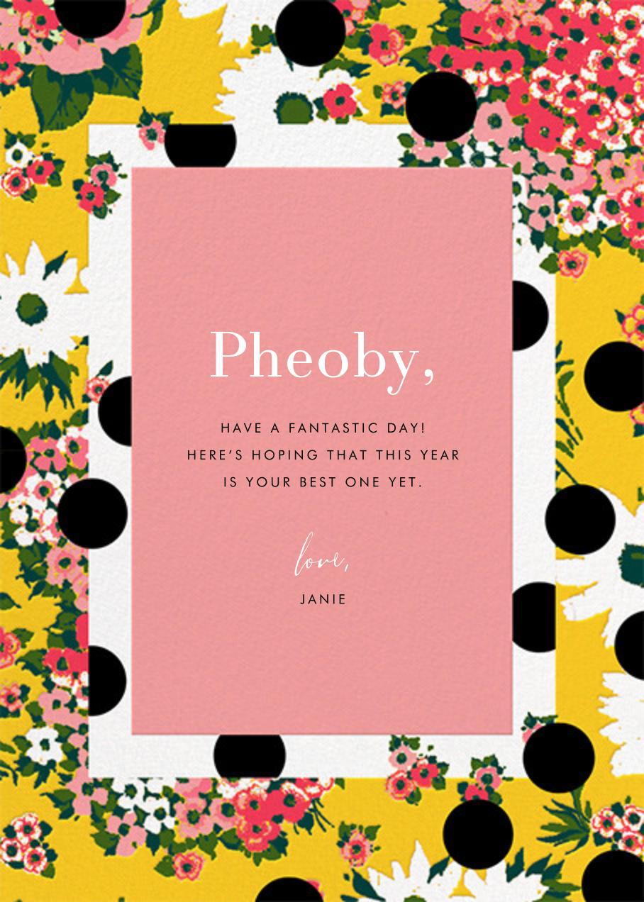 Floral Dots (Greeting) - Carolina Herrera - Birthday - card back