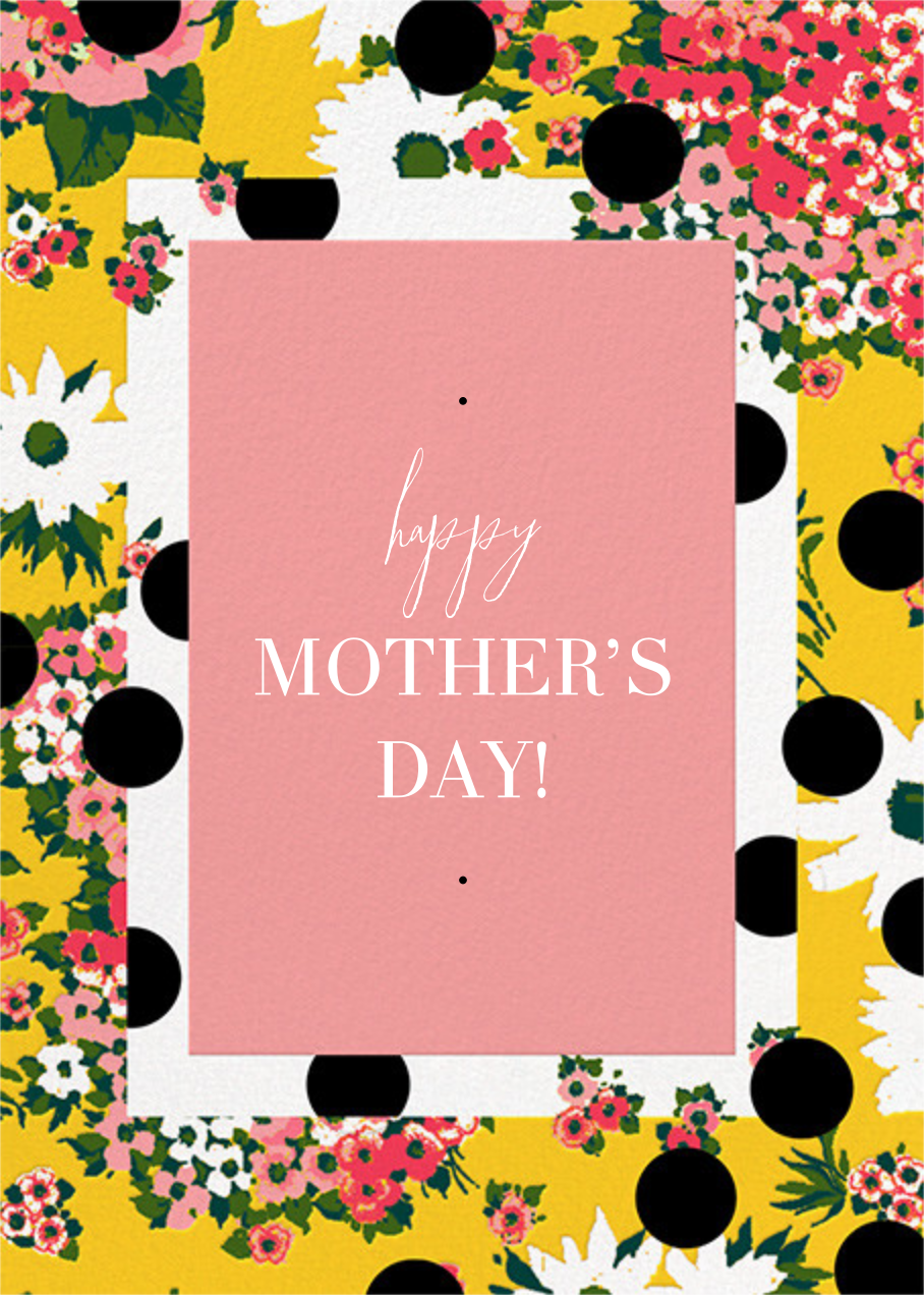 Floral Dots (Greeting) - Carolina Herrera - Mother's Day