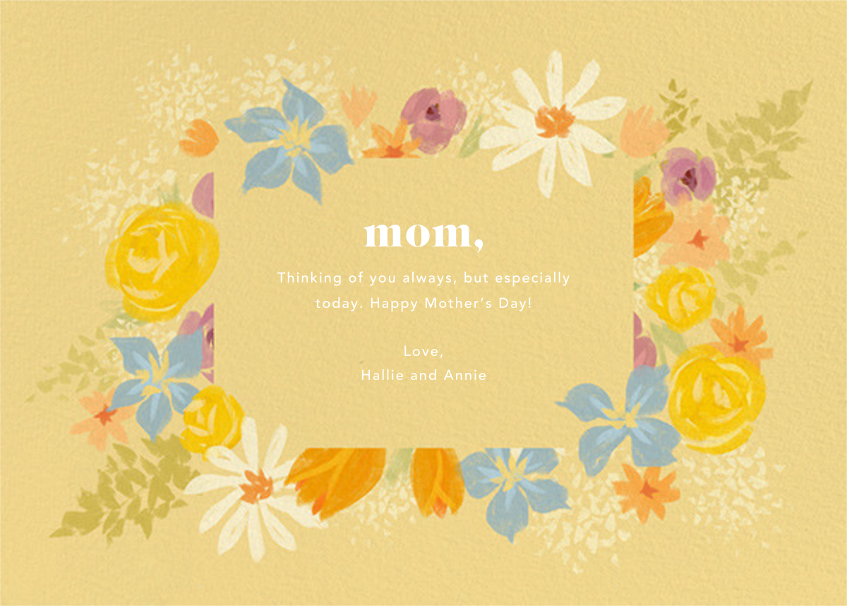 Mom in Bloom - Paperless Post - Mother's Day - card back