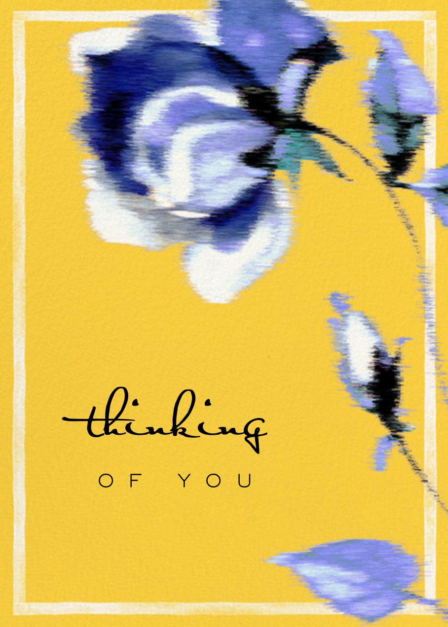 Abstracted Bloom (Greeting) - Yellow - Carolina Herrera - Thinking of you