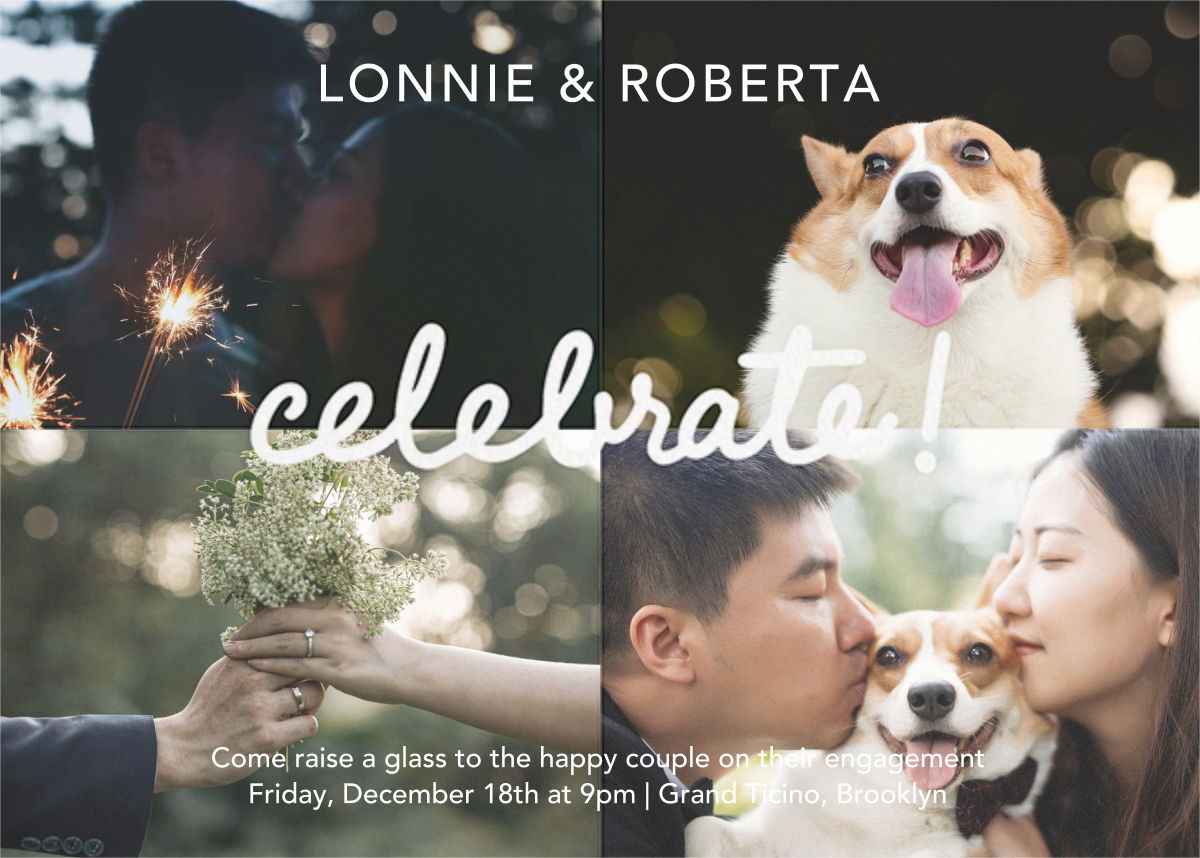 Quattro Celebrate (Photo) - Paperless Post - Engagement party