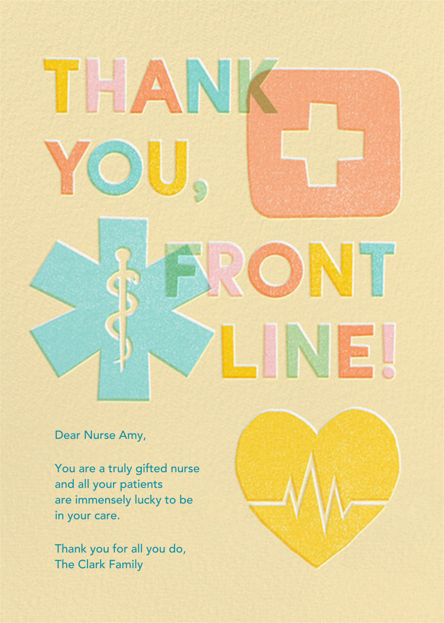 Front Line - Paperless Post - Thank you