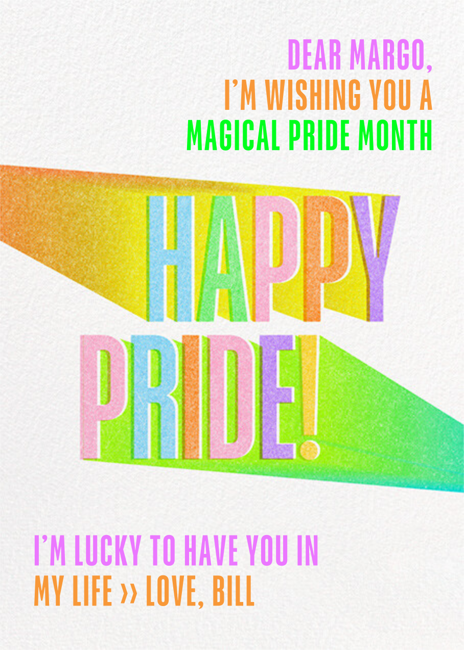 Bright Side - Paperless Post - Pride