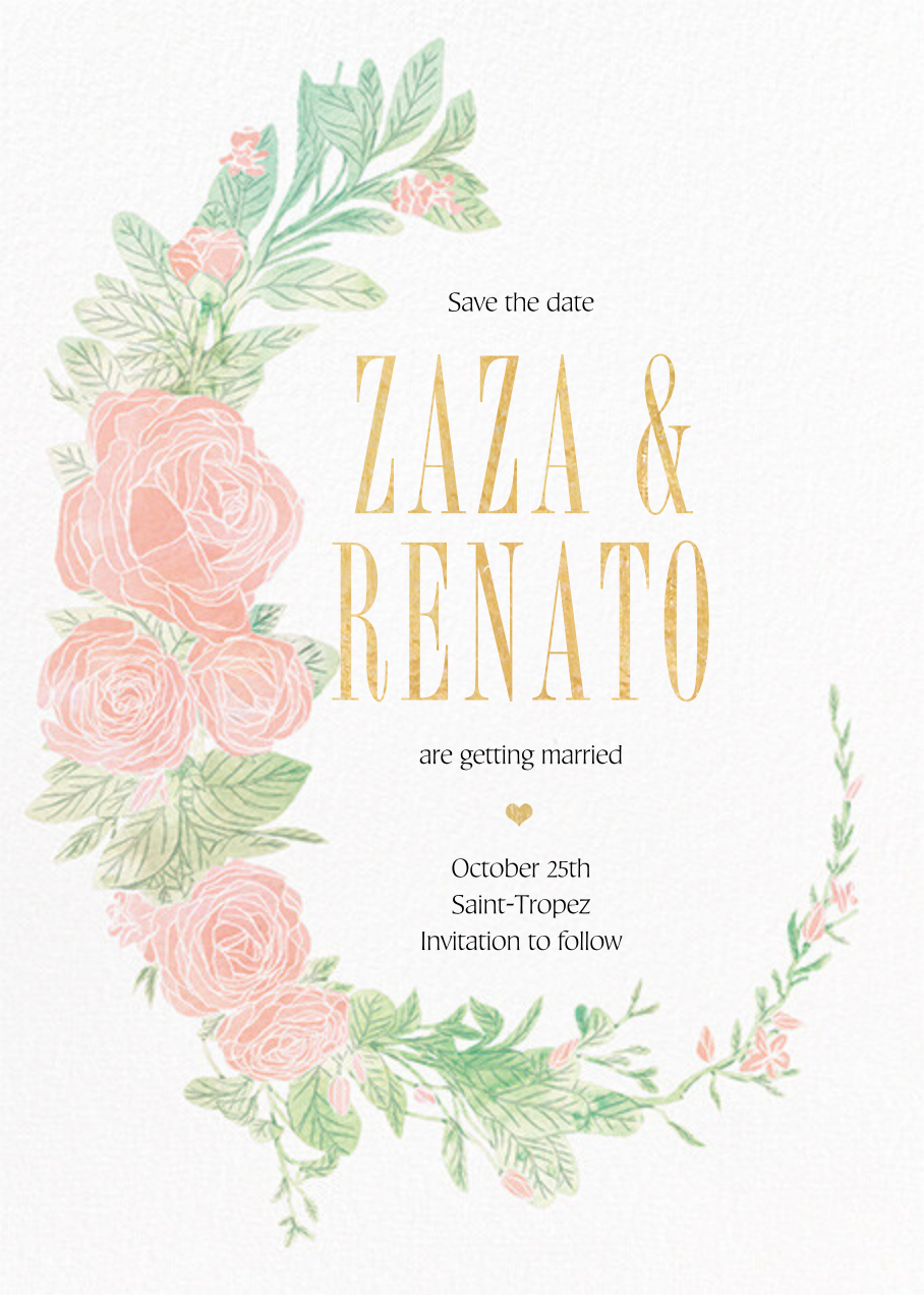Blush Roses - Paperless Post - Save the date