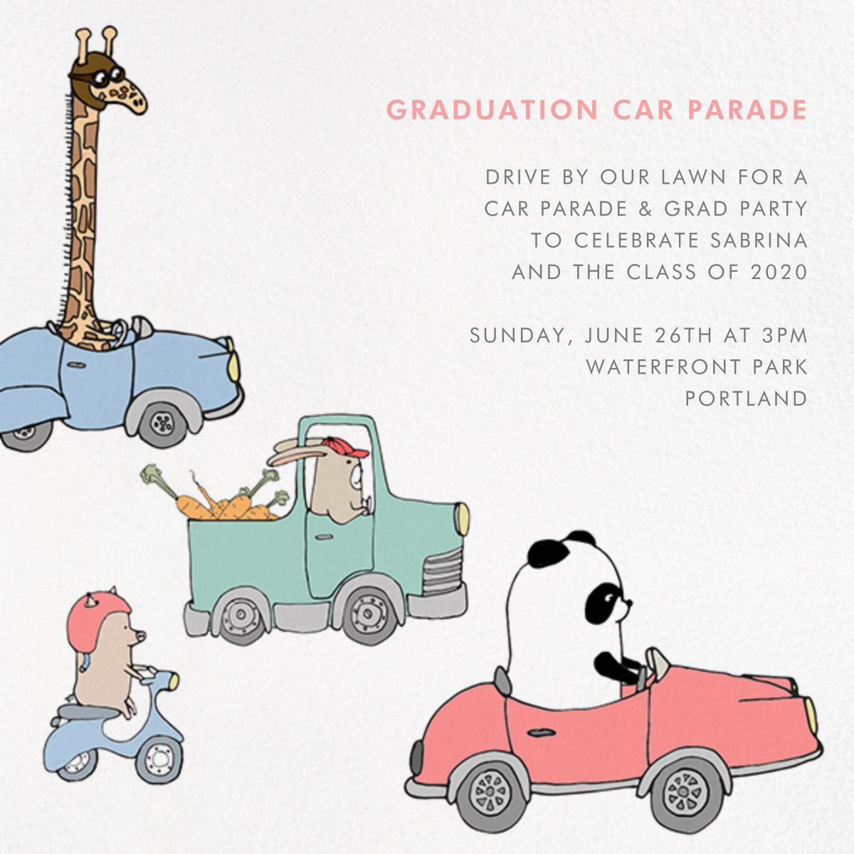 Automotive Animals - Paperless Post - Graduation party