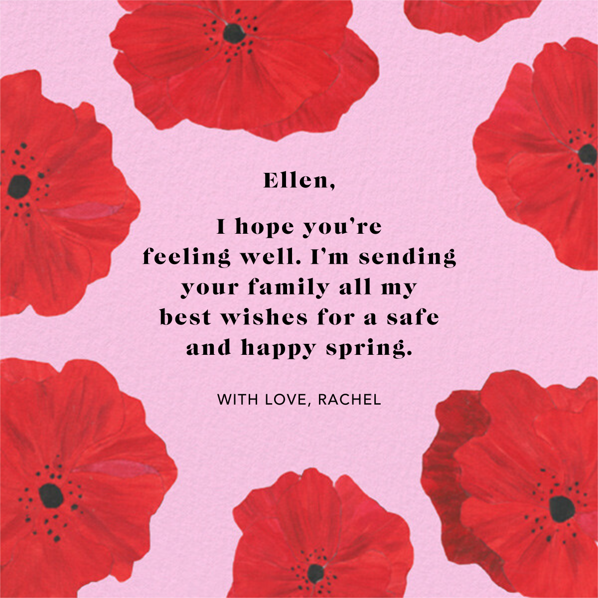 Red Petals - Carnation - Anthropologie - Thinking of you