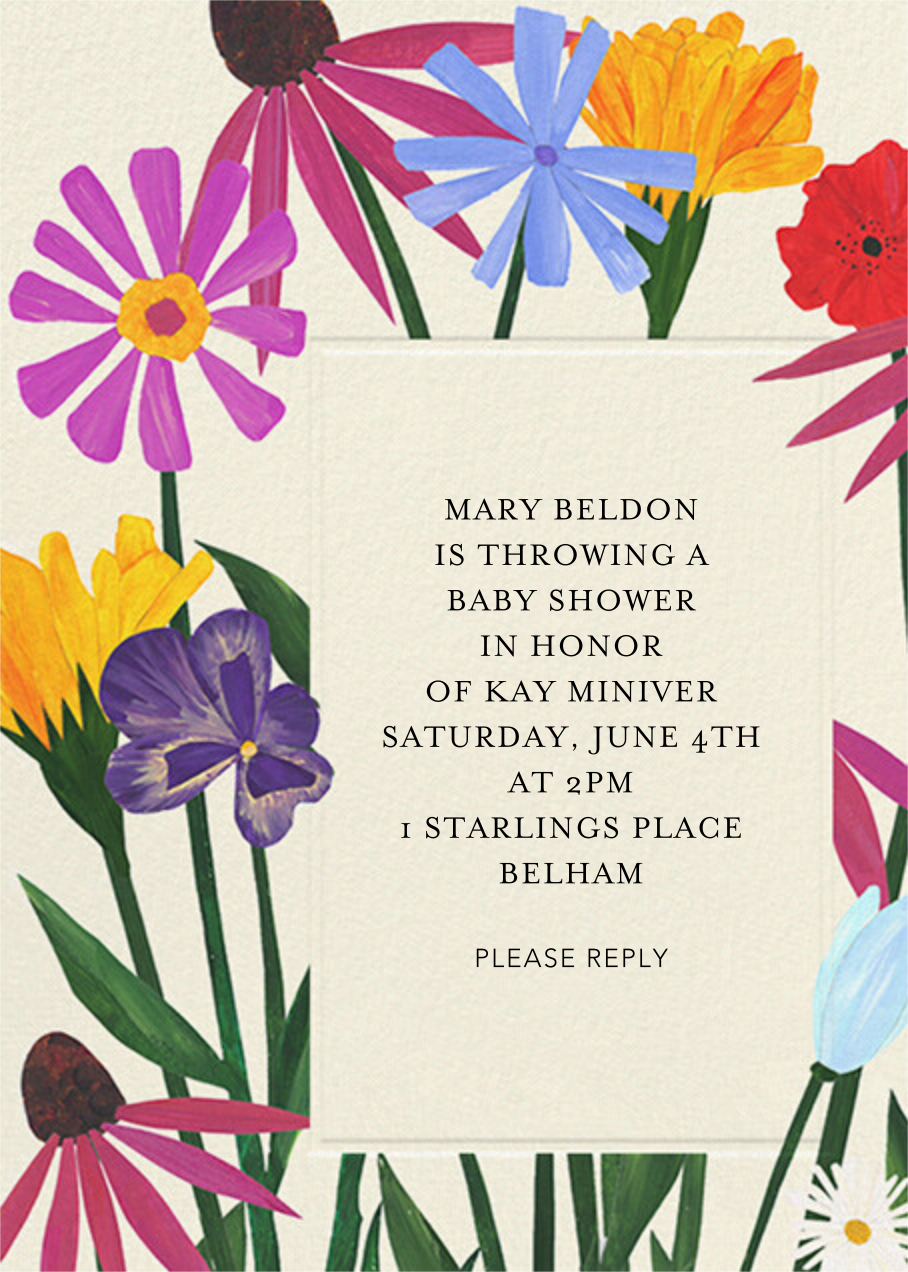 Bright Blooms - Anthropologie - Baby shower