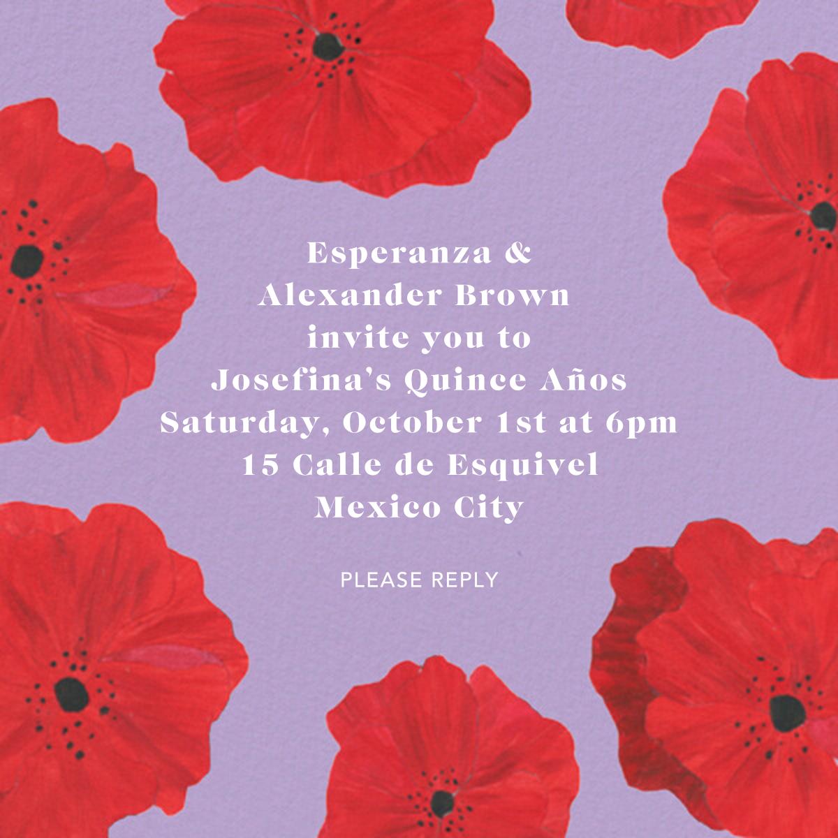 Red Petals - Lilac - Anthropologie - Quinceañera