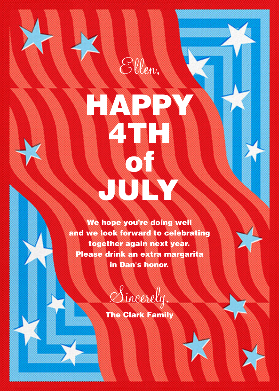 Funky Flag - Paperless Post - 4th of July