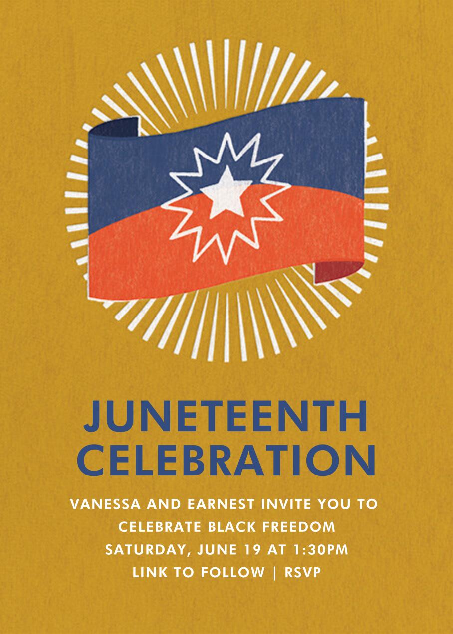 Juneteenth Flag - Paperless Post - Juneteenth