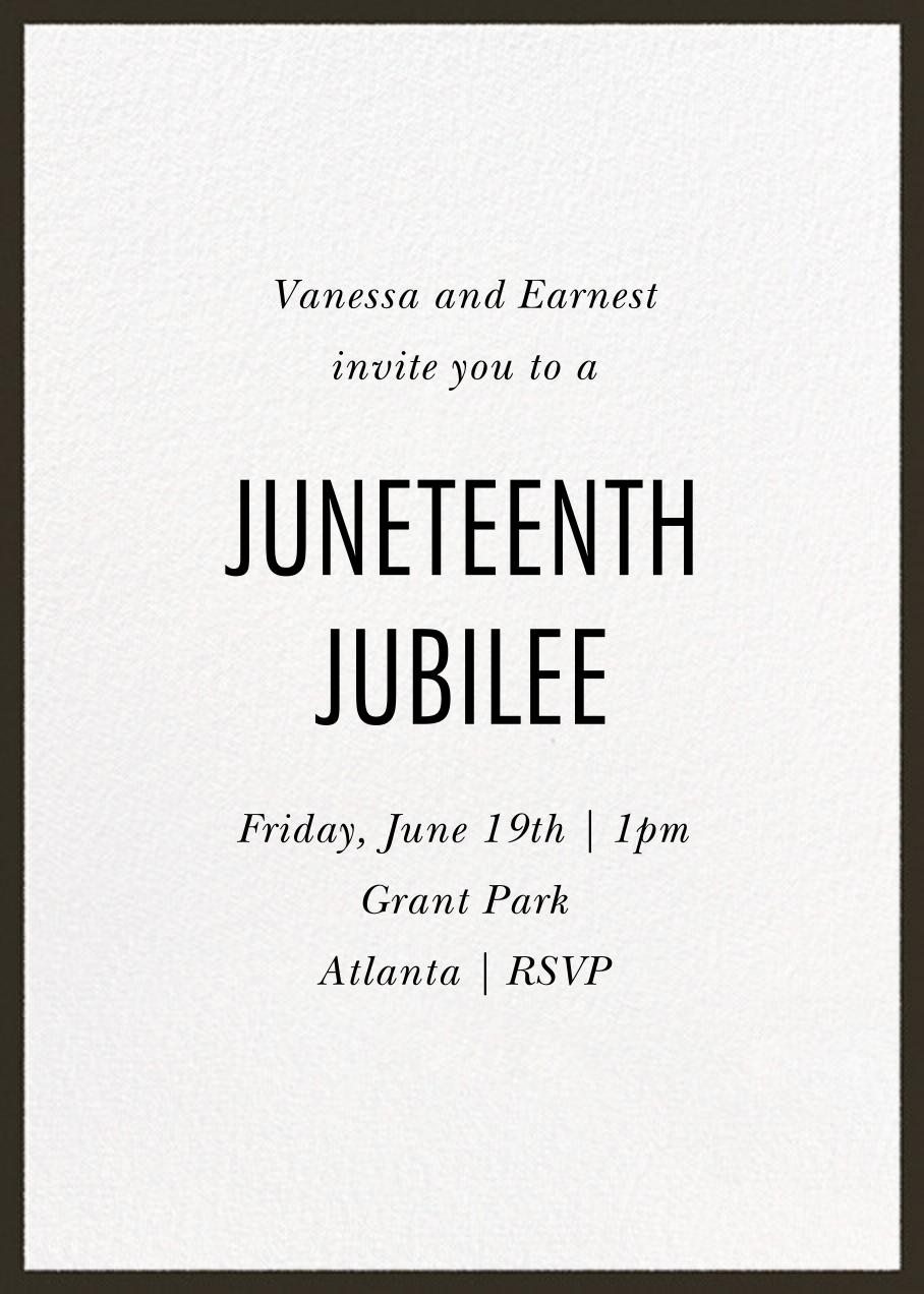 Juneteenth Jubilee - Paperless Post - Juneteenth - card back