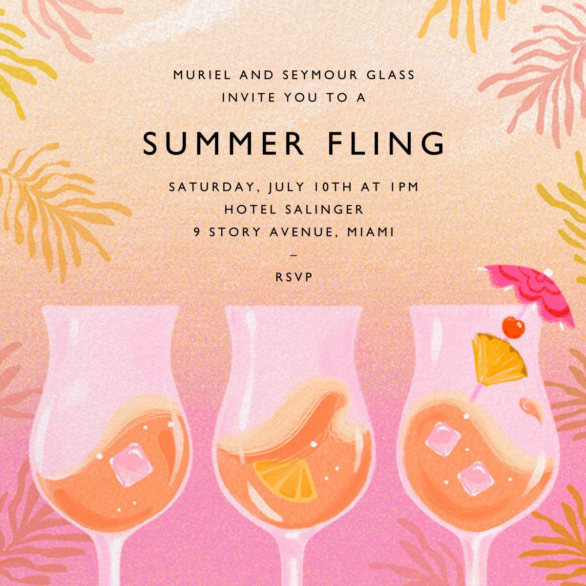 Rose Colored Glasses - Paperless Post - Summer entertaining