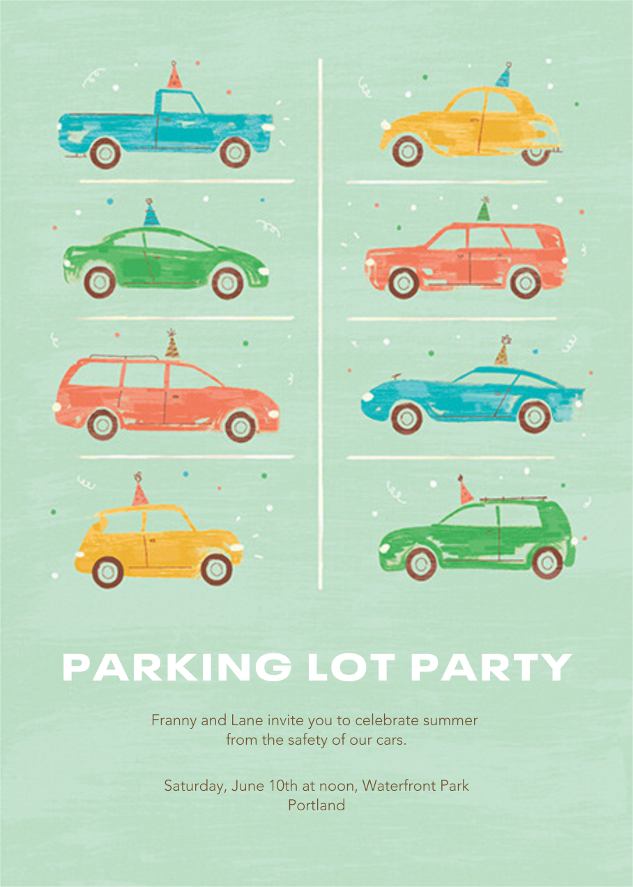 Party Cars - Paperless Post - Summer entertaining