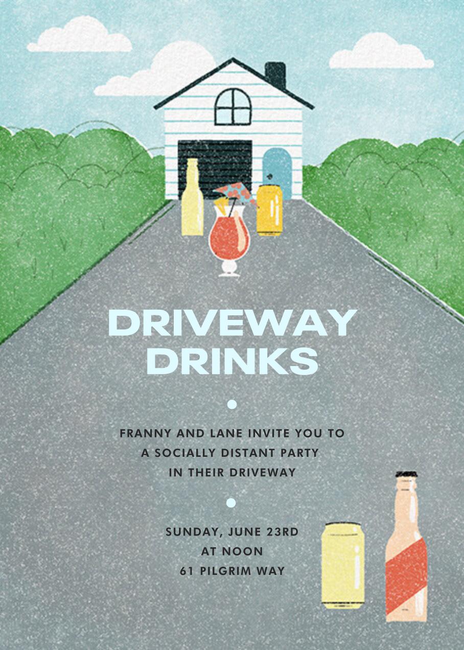 Driveway Drinks - Paperless Post - Virtual parties