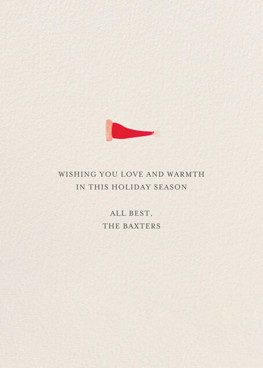 Santa's Slumber - Deep - Mr. Boddington's Studio - Holiday cards - card back