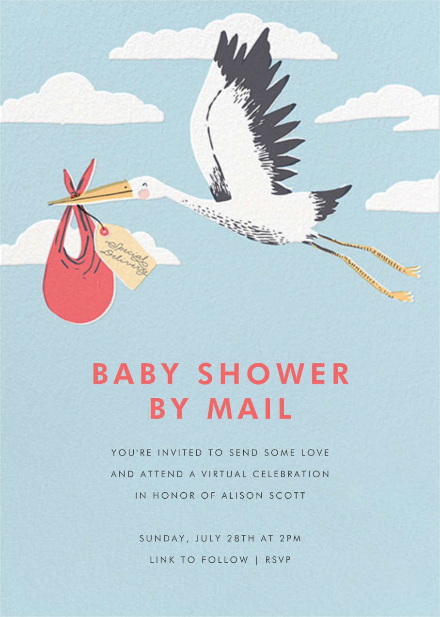 Airmail (Invitation) - Hello!Lucky - Baby shower