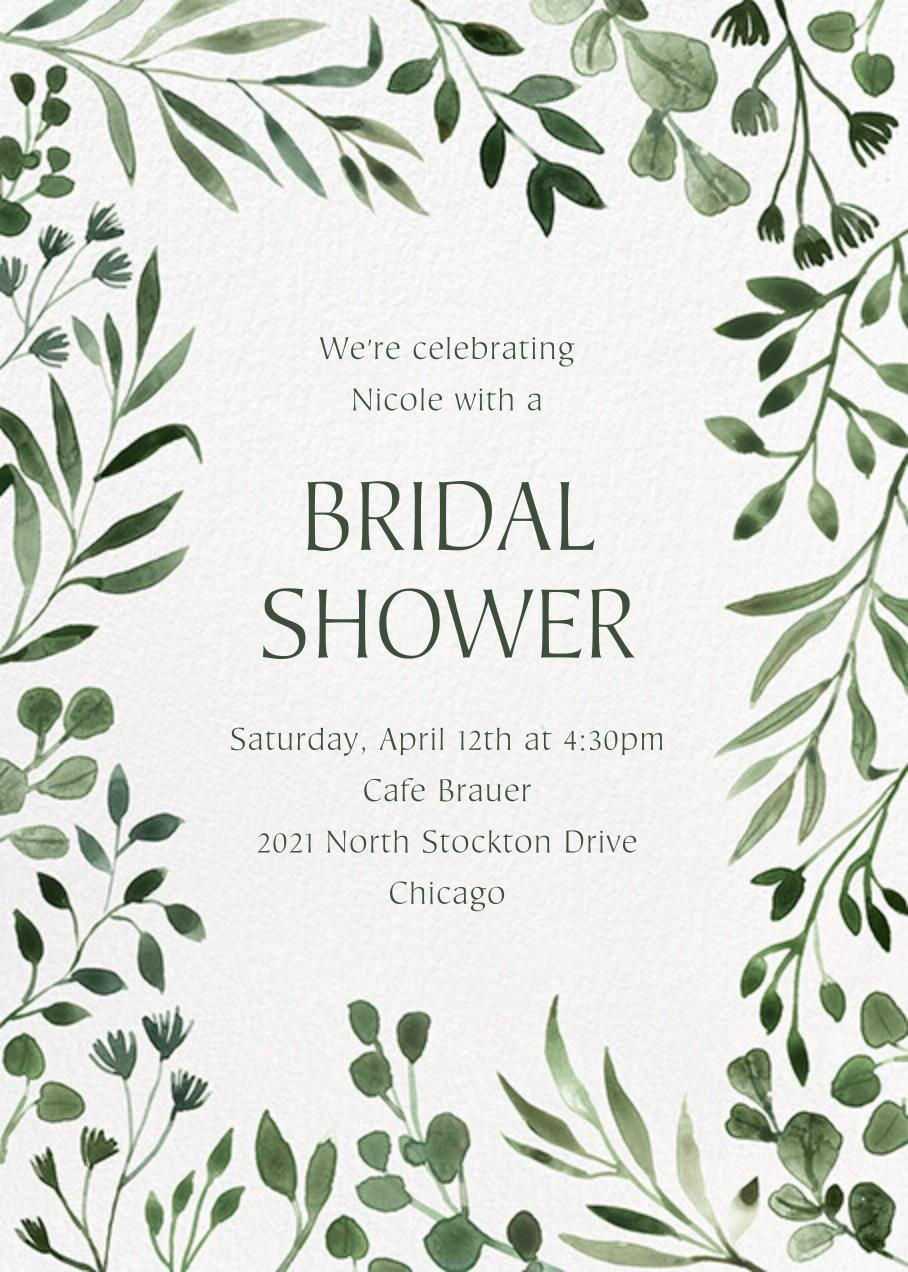 Forever Greens - Paperless Post - Bridal shower