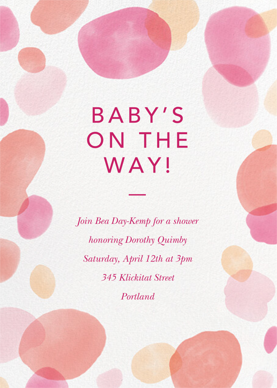 Round Out - Blossom - Paperless Post - Baby shower