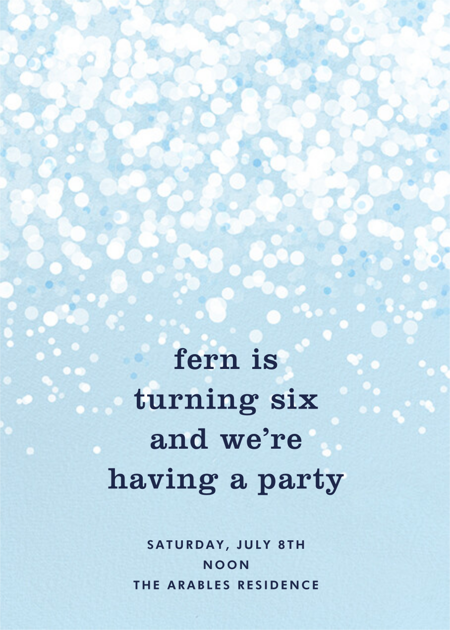 Snow Flurry - Paperless Post - Kids' birthday