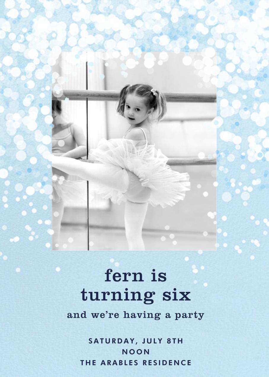 Snow Flurry Photo - Paperless Post - Kids' birthday