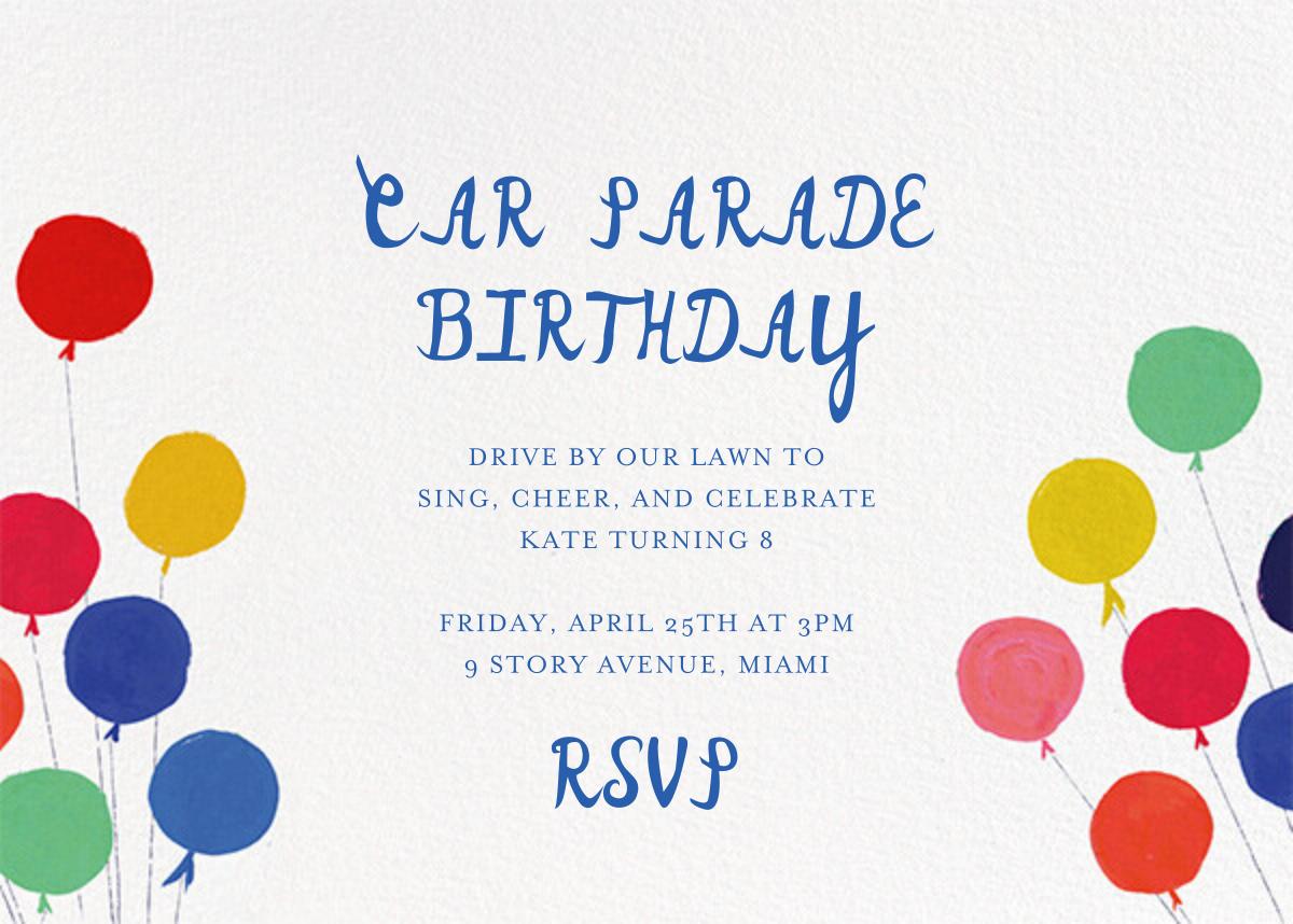 Balloons for the Bug (Invitation) - Mr. Boddington's Studio - Kids' birthday - card back