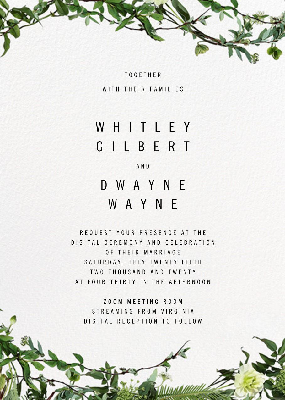 Chincoteague Vine - Paperless Post - Virtual wedding