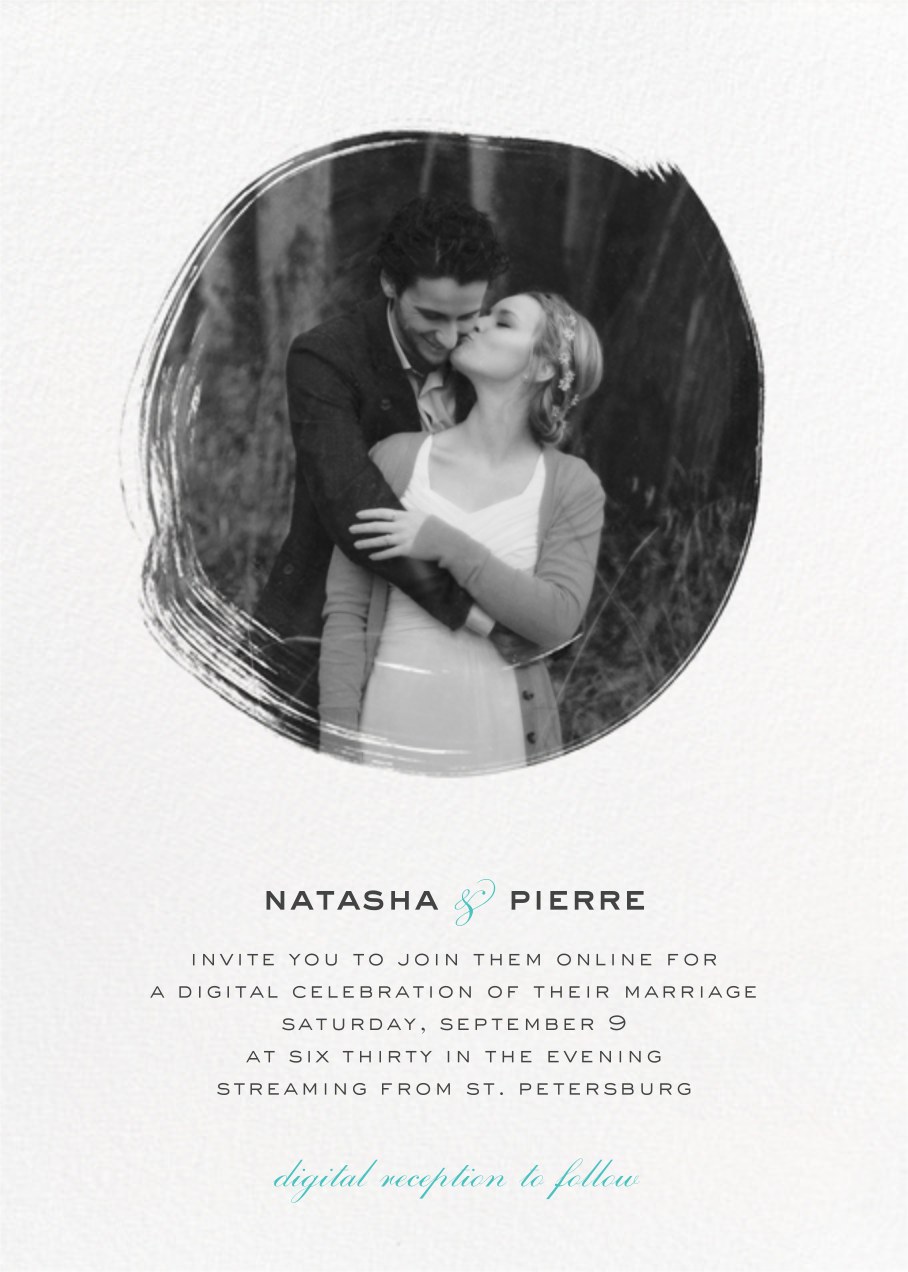Painted Circle (Invitation) - White - Paperless Post - Virtual wedding
