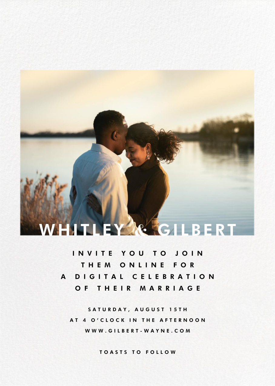 Horizontal Photo on Tall (Invitation) - Paperless Post - Virtual wedding