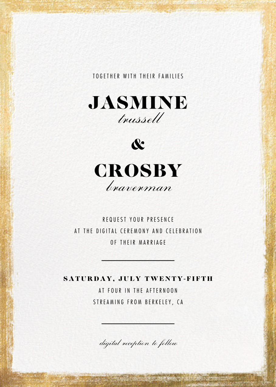Bristle - Paperless Post - Virtual wedding