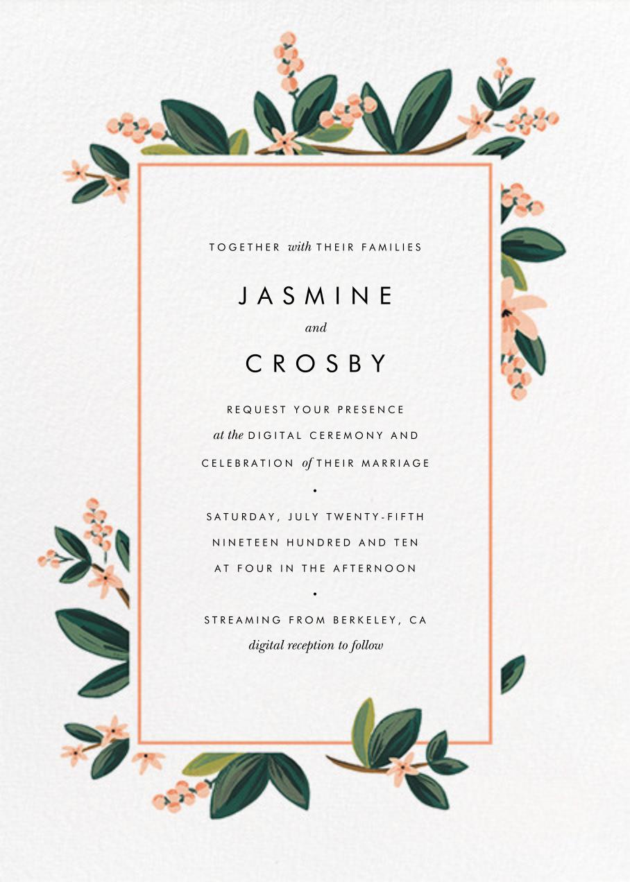 November Herbarium (Invitation) - Rifle Paper Co. - Virtual wedding invitations