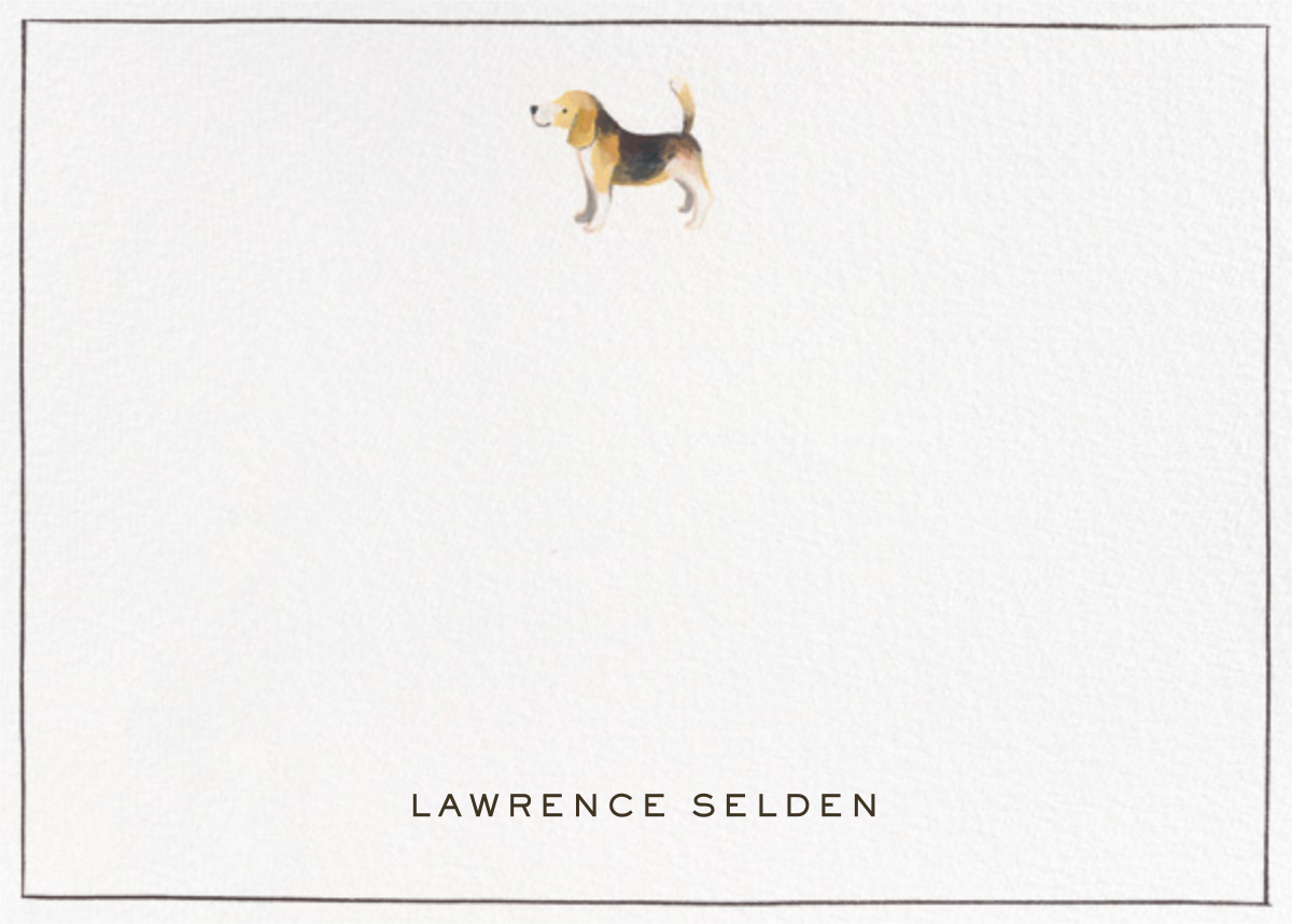 Beagle Border - Paperless Post - Personalized stationery