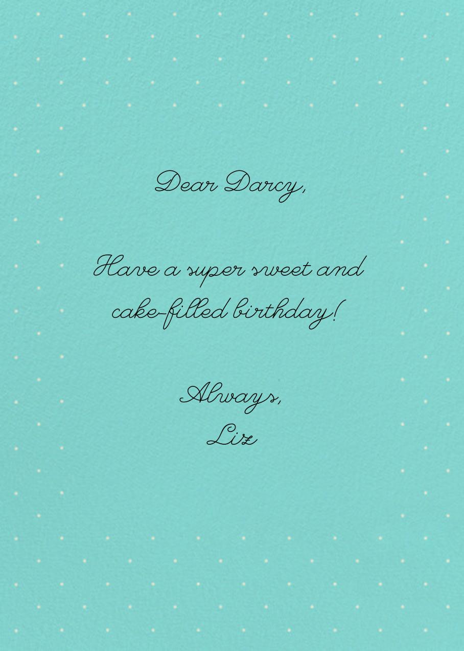 Strawberry Cream Cake - Paperless Post - Birthday - card back