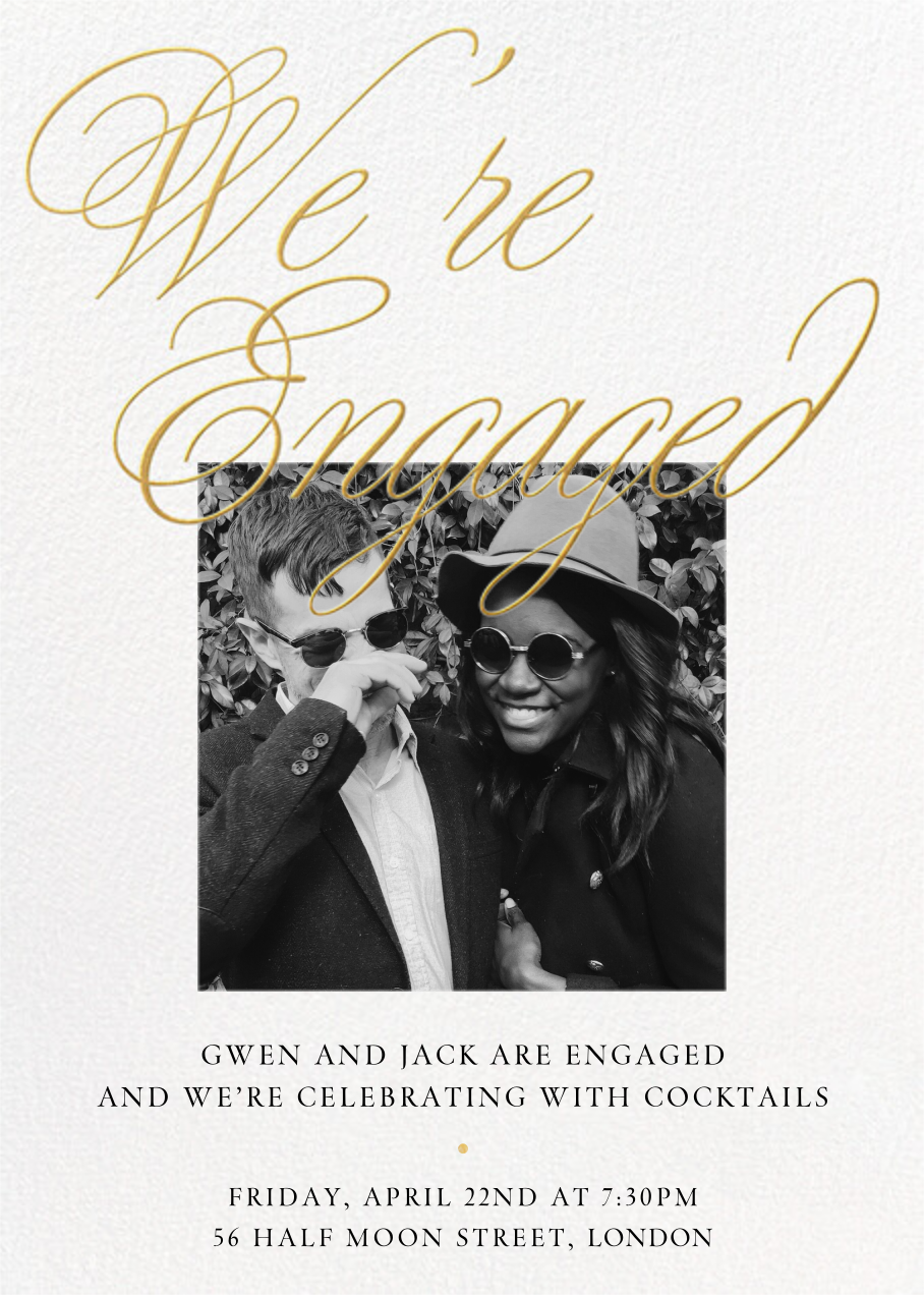 Grand Plans Photo - Paperless Post - Engagement party
