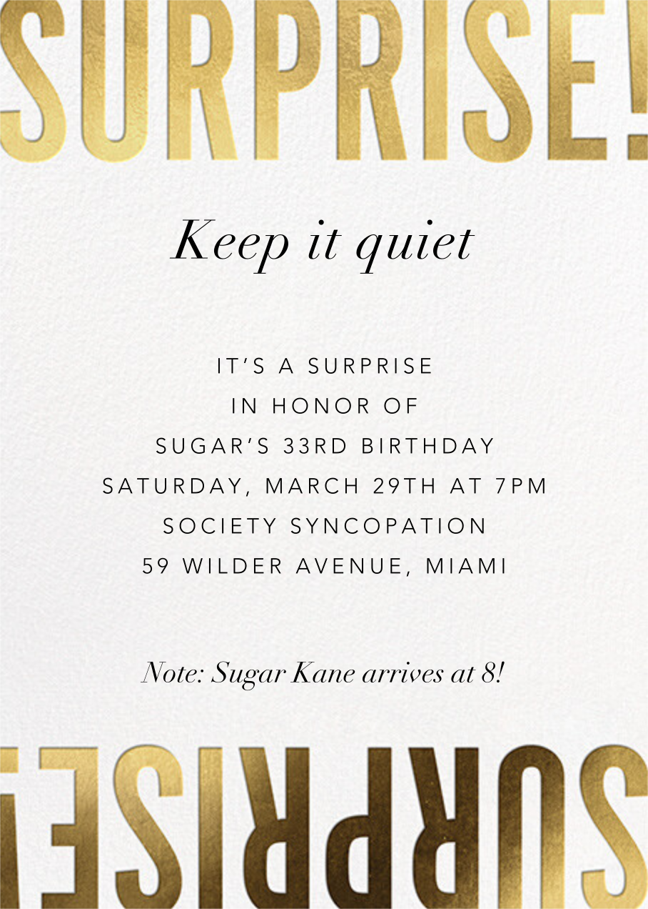 Flip the Script - Surprise - Paperless Post - Adult birthday