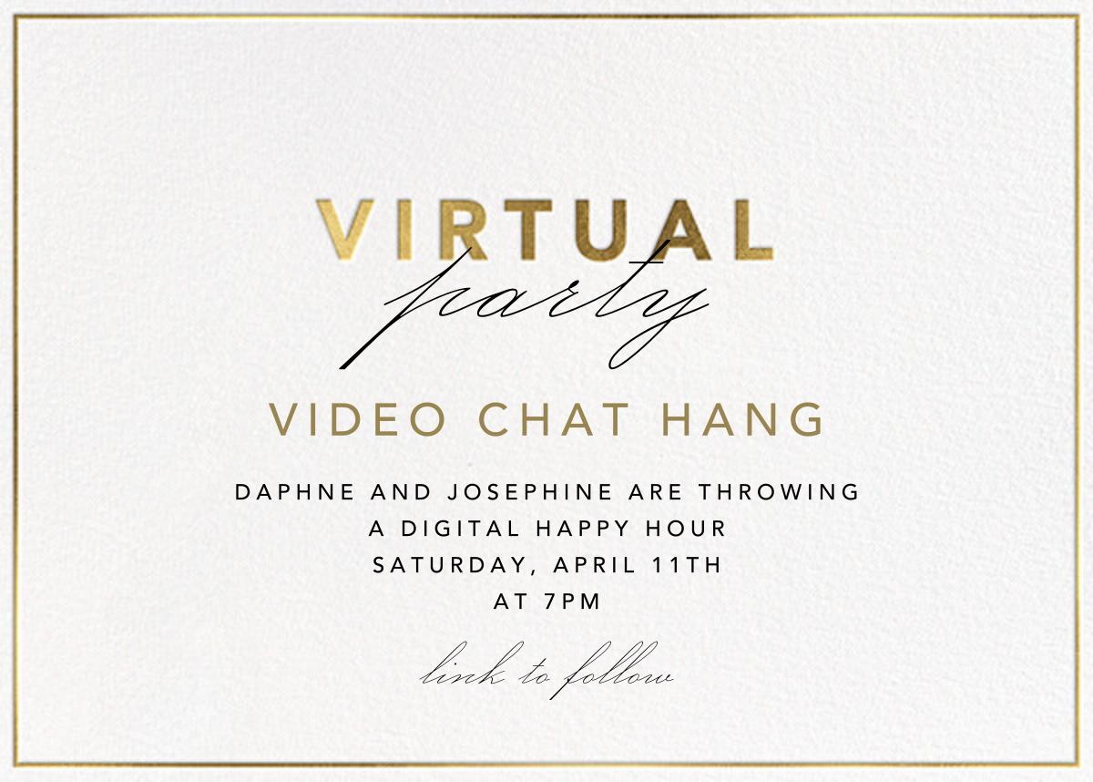 Shining Gold - Virtual - Paperless Post - Virtual parties
