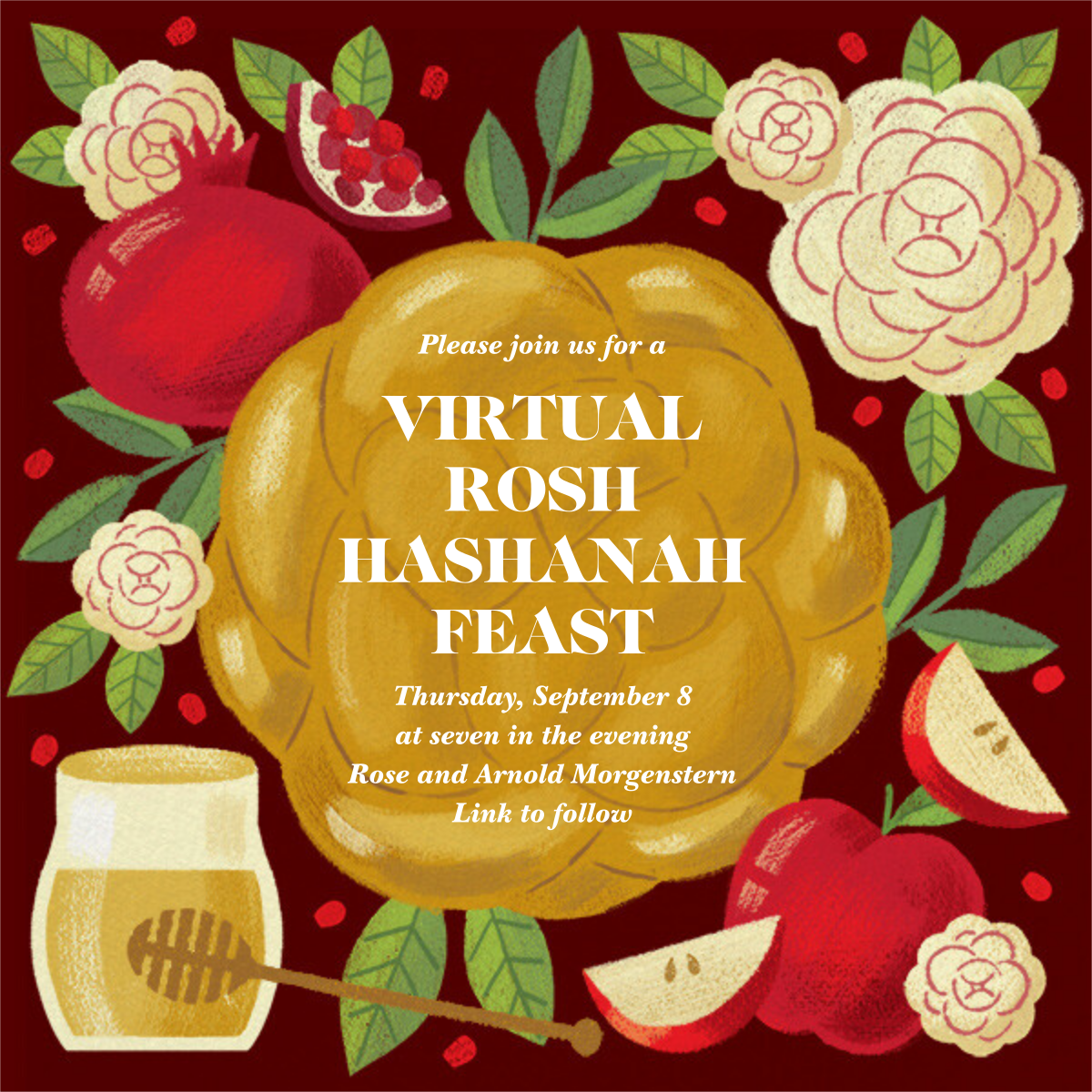 Honey and Challah - Paperless Post