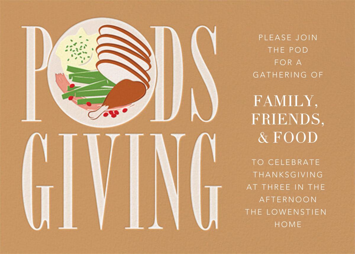Podsgiving - Paperless Post - Thanksgiving