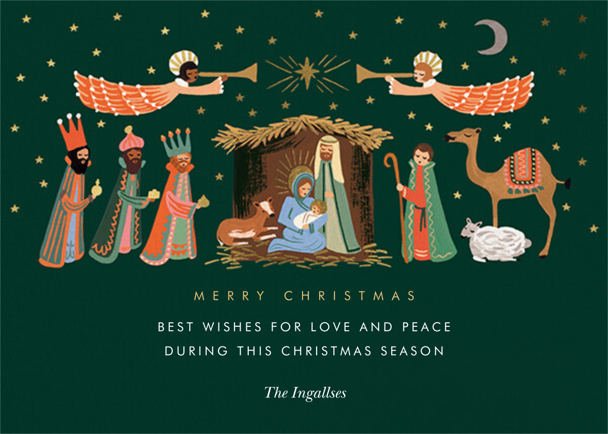 Evergreen Nativity - Rifle Paper Co. - Christmas