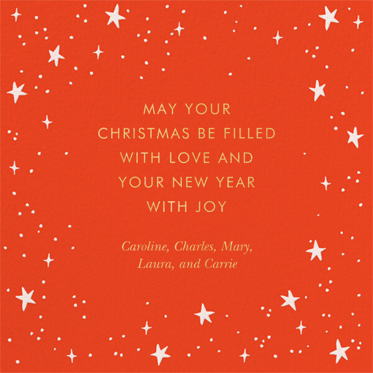 Merry Christmas Script - Rifle Paper Co. - Christmas - card back