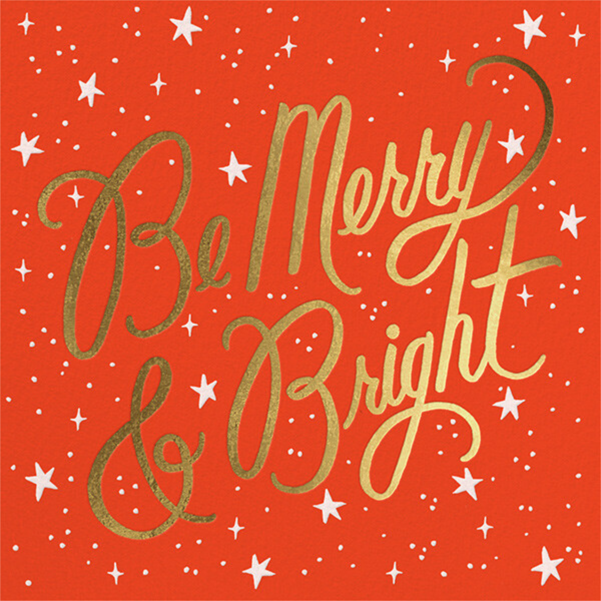 Merry and Bright Script - Flame/Gold  - Rifle Paper Co.