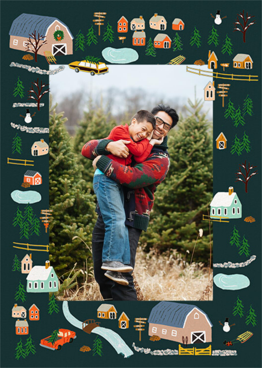Holiday Tree Farm Photo - Rifle Paper Co. - Holiday cards