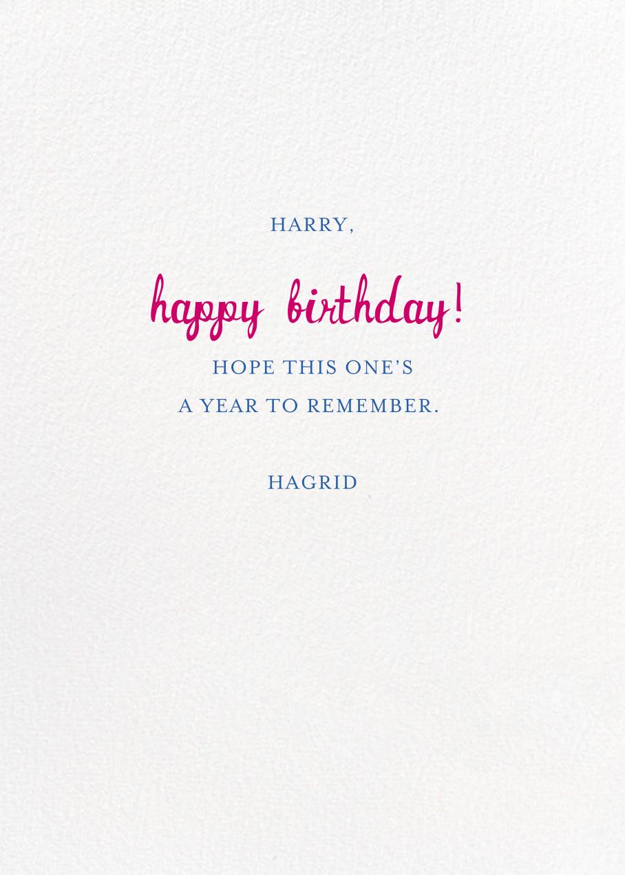 Special Delivery - Tan - Mr. Boddington's Studio - Birthday - card back