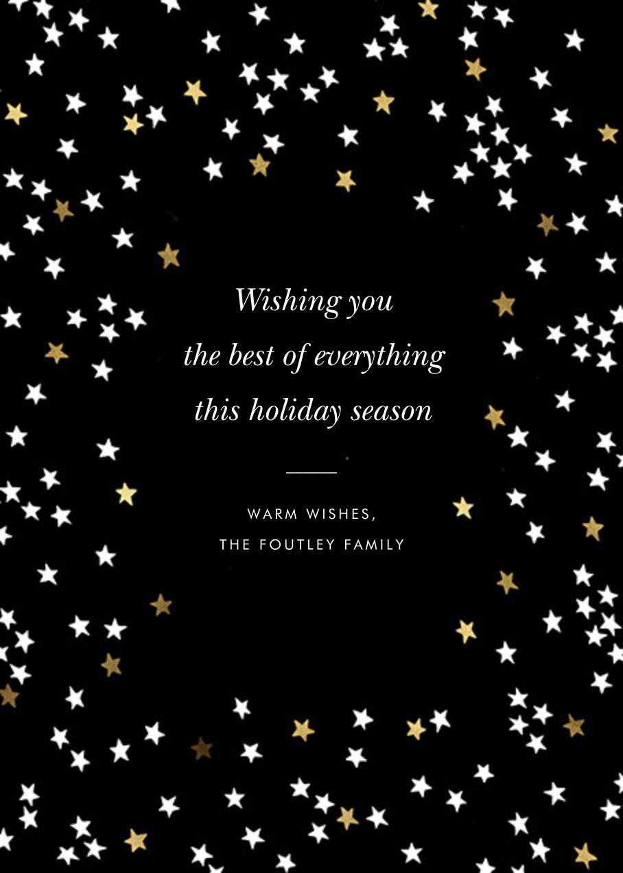 Sky Glitter Photo - kate spade new york - Holiday cards - card back