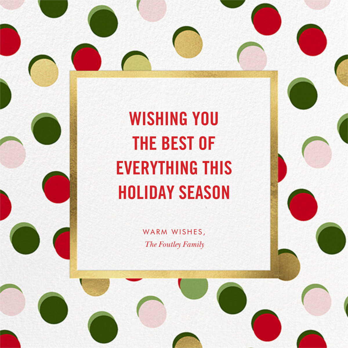 Hot Dotties Photo - kate spade new york - Holiday cards - card back