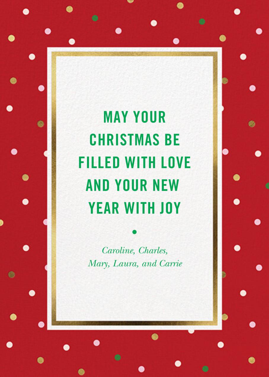 Wrapping Paper Photo - Maraschino - kate spade new york - Christmas - card back