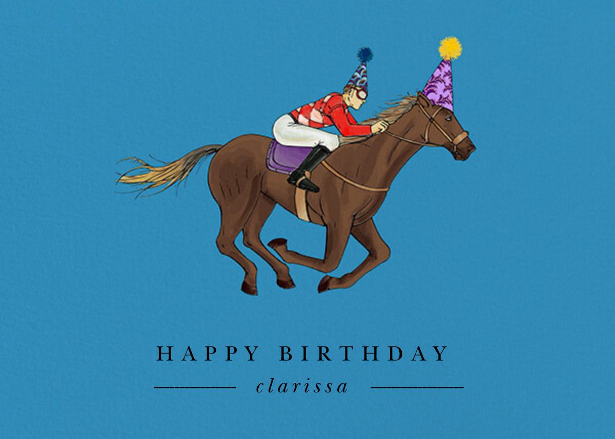 Thoroughbred Birthday - Robin'sEgg/Light - Paperless Post