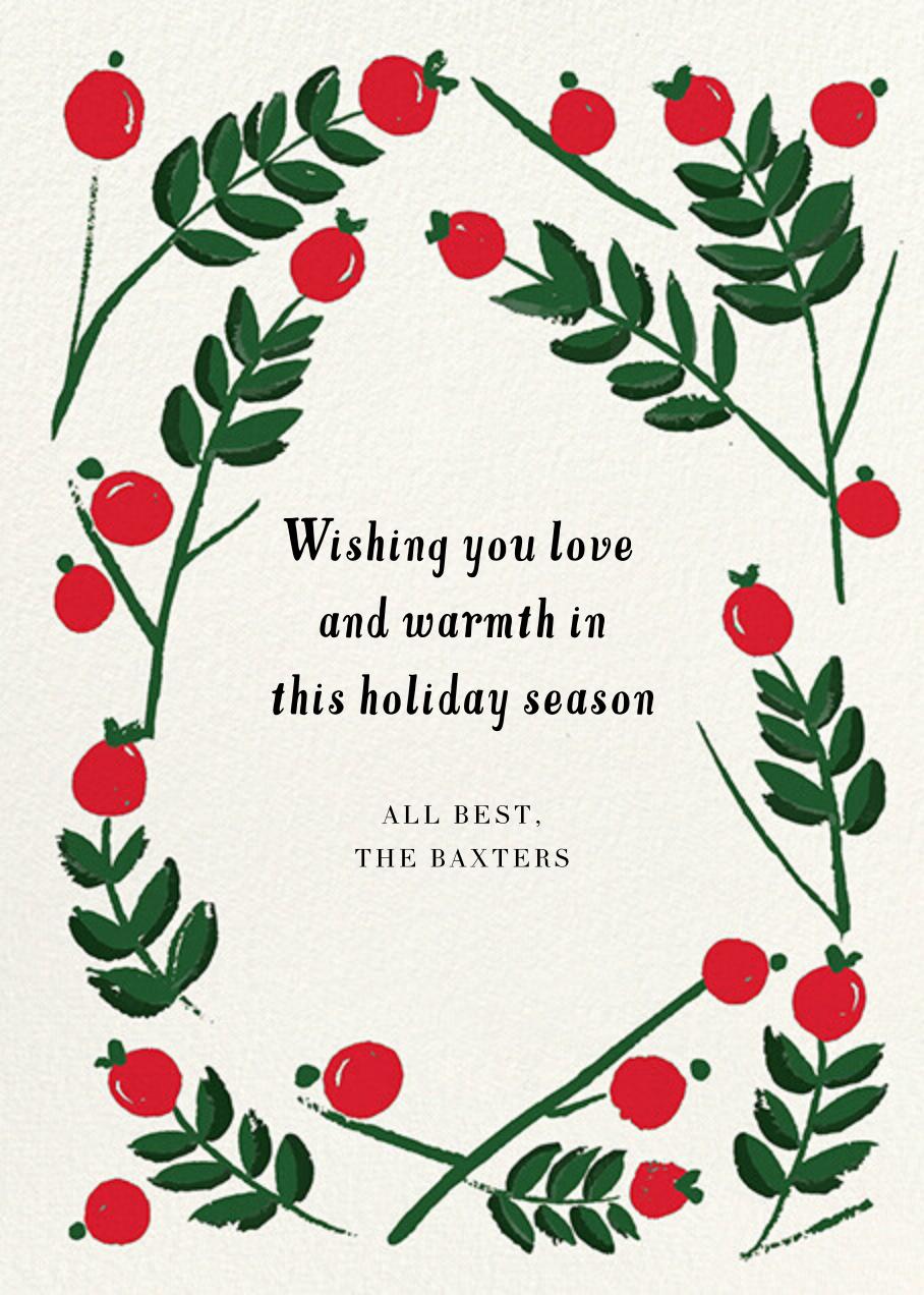 Berry Frame - Crimson - Mr. Boddington's Studio - Holiday cards