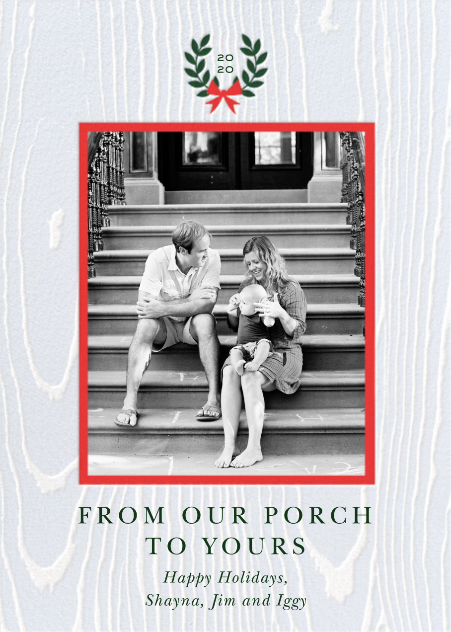 Porch Wood - Cheree Berry - Holiday cards