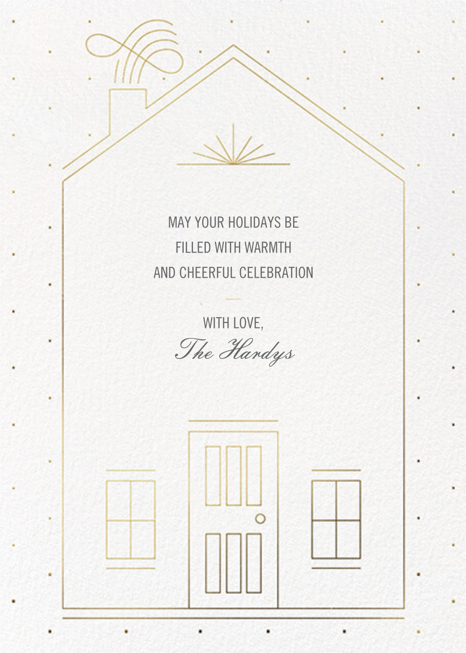 Five Windows - Paperless Post - Holiday cards - card back