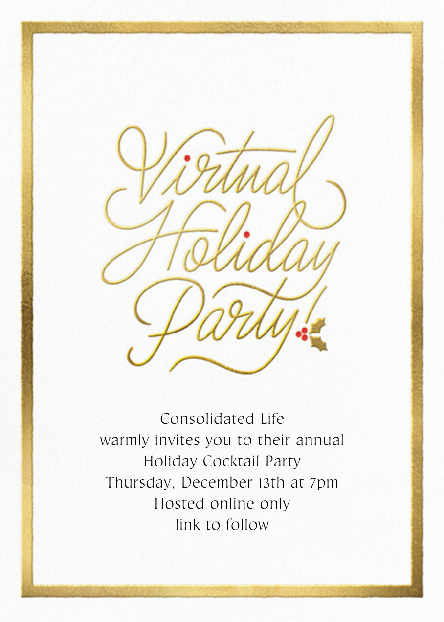 Spirited Script - Virtual - Paperless Post - Corporate invitations